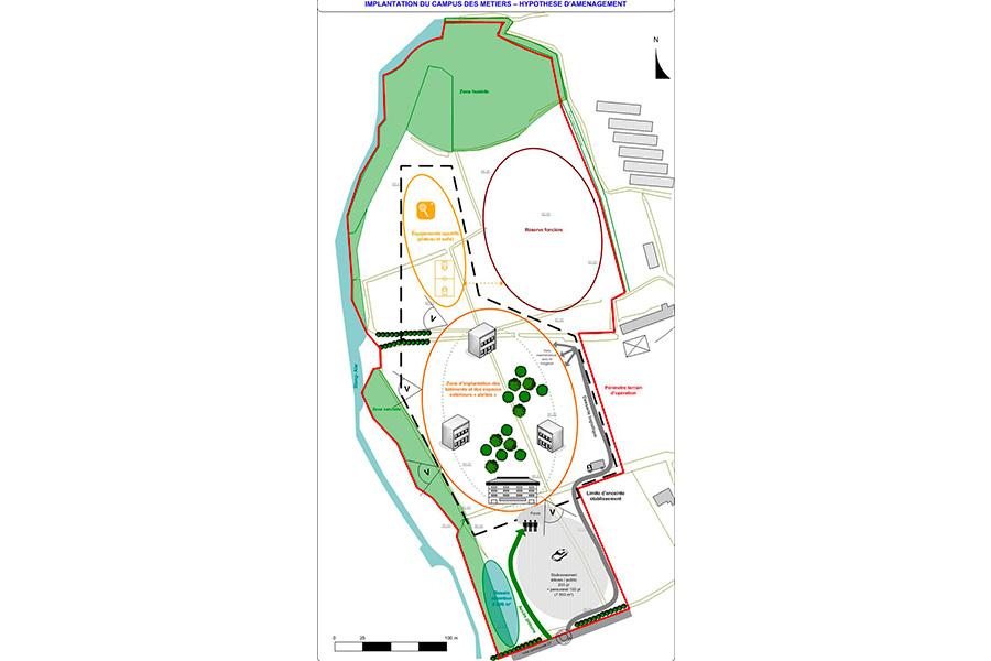 programmation-architecturale-CampusMetiers-Brest-SchémaAménagement